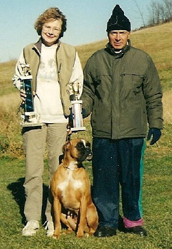 German Boxer Geri gets her schutzhund 1 title