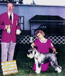 Cathy and Champion Standard Schnauzer Gem