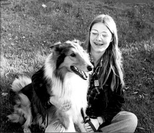 Cathy and Collie Wolf